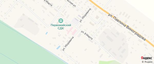 Улица Уборевича на карте поселка Березника Архангельской области с номерами домов