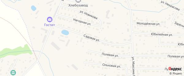 Садовая улица на карте Чухломы с номерами домов
