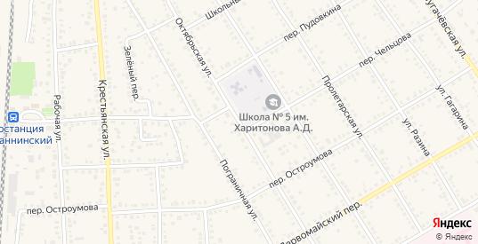 Октябрьская улица в Новоаннинском с номерами домов на карте. Спутник и схема онлайн
