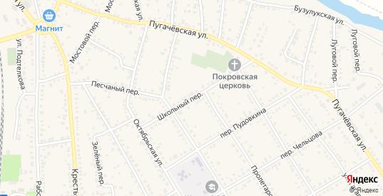 Школьный переулок в Новоаннинском с номерами домов на карте. Спутник и схема онлайн