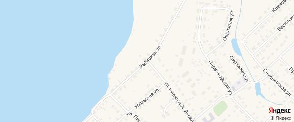 Рыбацкая улица на карте Чухломы с номерами домов