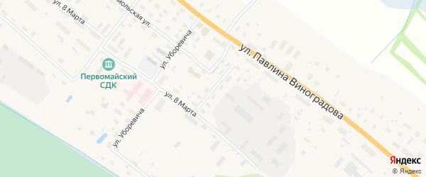 Почтовый переулок на карте поселка Березника Архангельской области с номерами домов