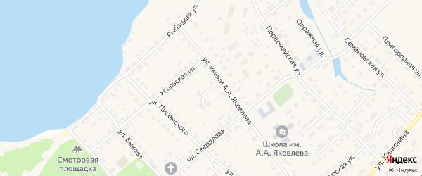 Переулок Яковлева на карте Чухломы с номерами домов