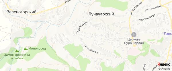 Садовое товарищество Дружба на карте Кисловодска с номерами домов
