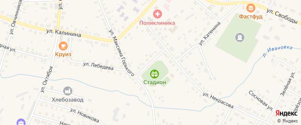 Улица доктора Малыгина на карте Чухломы с номерами домов