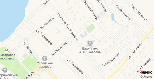 Улица Яковлева в Чухломе с номерами домов на карте. Спутник и схема онлайн