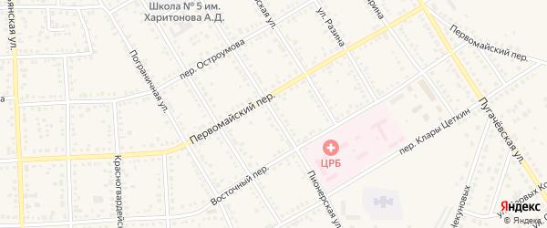 Пионерская улица на карте Новоаннинского с номерами домов