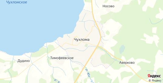 Карта Чухломы с улицами и домами подробная. Показать со спутника номера домов онлайн