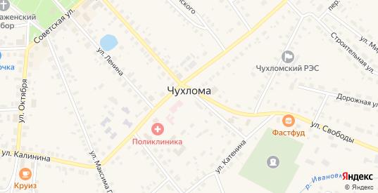 Соловьиная улица в Чухломе с номерами домов на карте. Спутник и схема онлайн