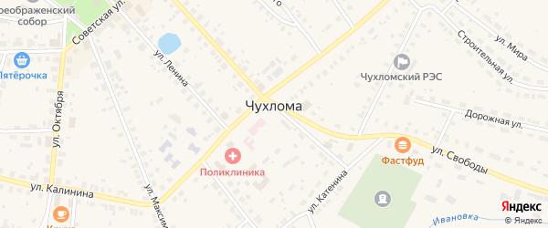 Соловьиная улица на карте Чухломы с номерами домов