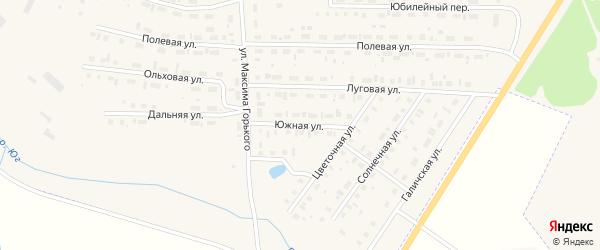 Южная улица на карте Чухломы с номерами домов