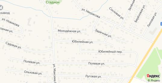 Юбилейная улица в Чухломе с номерами домов на карте. Спутник и схема онлайн