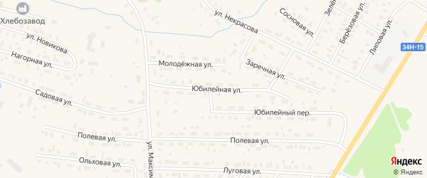 Юбилейная улица на карте Чухломы с номерами домов