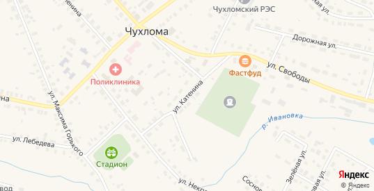 Улица Катенина в Чухломе с номерами домов на карте. Спутник и схема онлайн