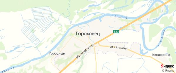 Карта Гороховца с районами, улицами и номерами домов