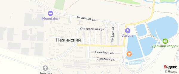 Улица Чапаева на карте Нежинского поселка Ставропольского края с номерами домов