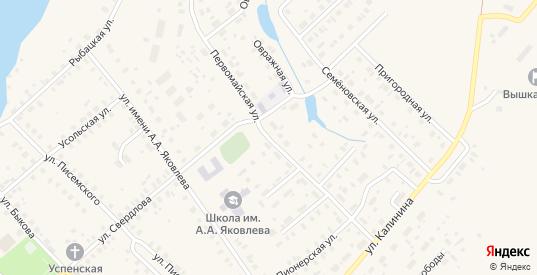 Первомайская улица в Чухломе с номерами домов на карте. Спутник и схема онлайн