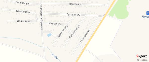 Солнечная улица на карте Чухломы с номерами домов