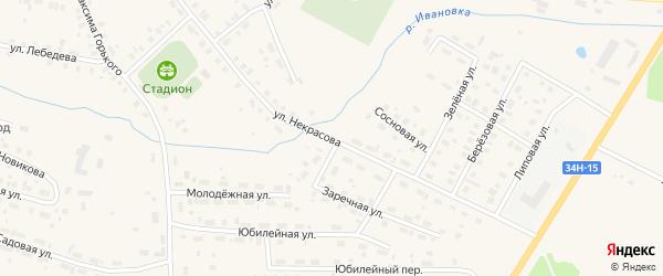 Улица Некрасова на карте Чухломы с номерами домов
