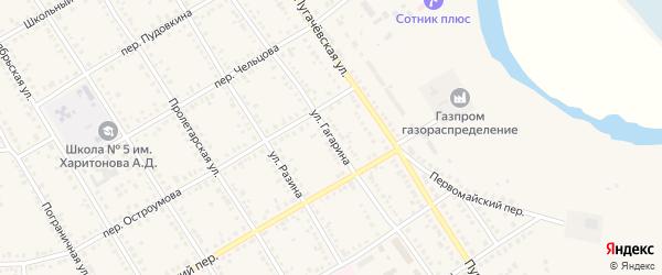 Улица Гагарина на карте Новоаннинского с номерами домов