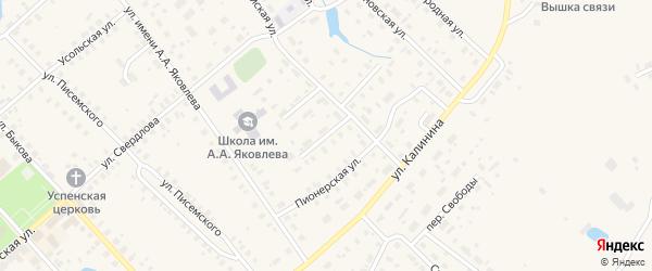 Комсомольская улица на карте Чухломы с номерами домов