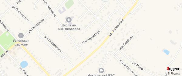 Пионерская улица на карте Чухломы с номерами домов