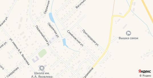 Семеновская улица в Чухломе с номерами домов на карте. Спутник и схема онлайн