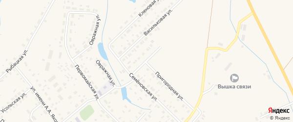 Семеновский переулок на карте Чухломы с номерами домов