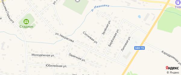 Сосновая улица на карте Чухломы с номерами домов