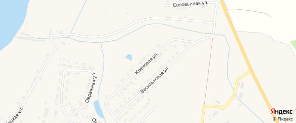 Кленовая улица на карте Чухломы с номерами домов