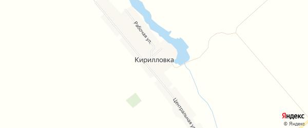 Карта села Кирилловки в Пензенской области с улицами и номерами домов