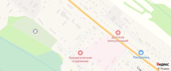 Северный переулок на карте поселка Березника Архангельской области с номерами домов