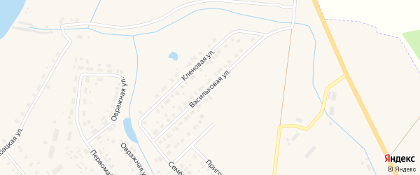 Васильковая улица на карте Чухломы с номерами домов