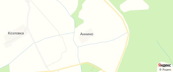 Карта деревни Аннино в Ивановской области с улицами и номерами домов