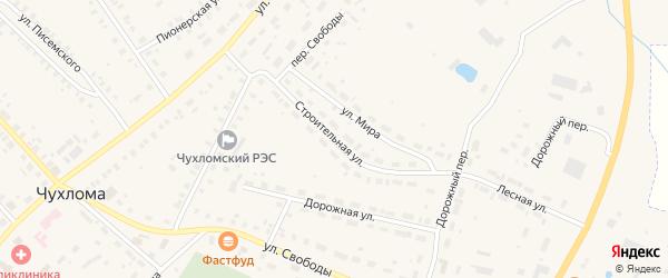 Строительная улица на карте Чухломы с номерами домов