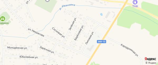 Березовая улица на карте Чухломы с номерами домов