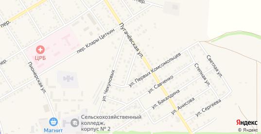Улица Лескова в Новоаннинском с номерами домов на карте. Спутник и схема онлайн