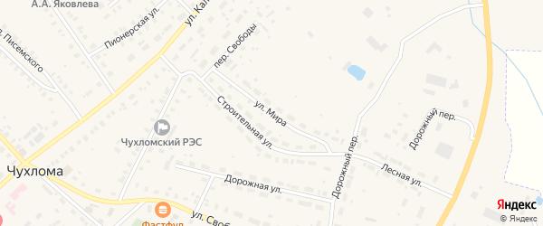 Улица Мира на карте Чухломы с номерами домов
