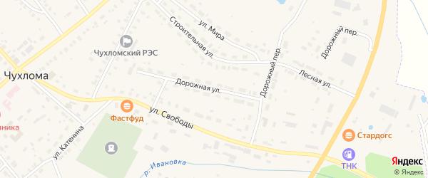 Дорожная улица на карте Чухломы с номерами домов