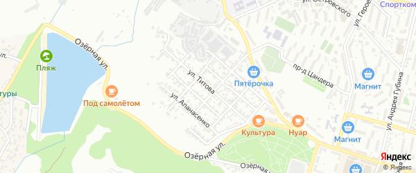 Улица Титова на карте Кисловодска с номерами домов