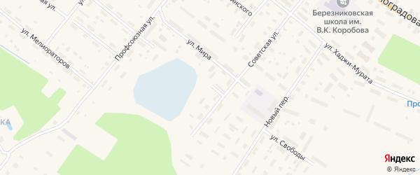 Улица Свободы на карте поселка Березника с номерами домов