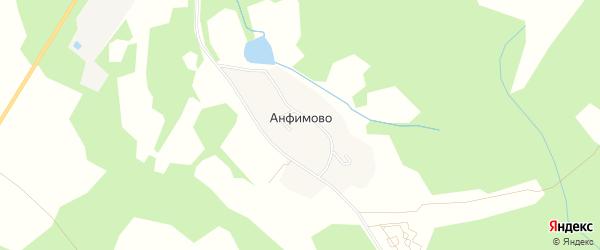 Карта поселка Анфимово в Костромской области с улицами и номерами домов