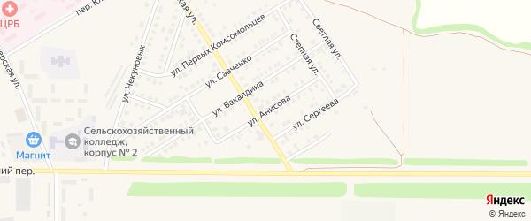 Улица Анисова на карте Новоаннинского с номерами домов