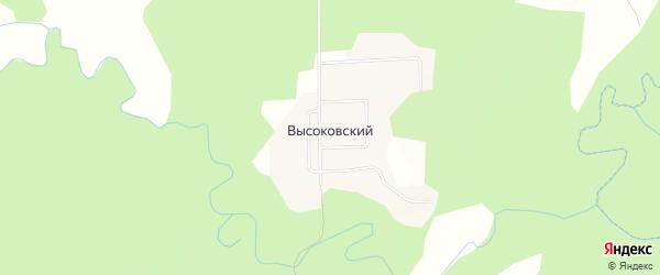 Карта Высоковского поселка в Костромской области с улицами и номерами домов