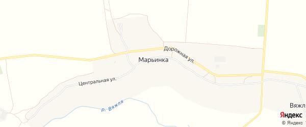 Карта села Марьинки в Тамбовской области с улицами и номерами домов