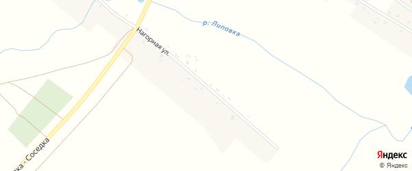 Нагорная улица на карте села Липовка Пензенской области с номерами домов