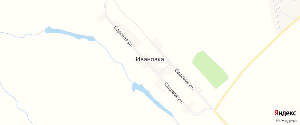 Карта деревни Ивановки в Пензенской области с улицами и номерами домов
