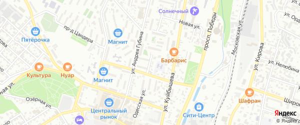 Одесская улица на карте Кисловодска с номерами домов