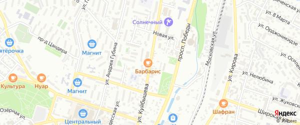 Улица Куйбышева на карте Кисловодска с номерами домов
