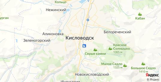Карта Кисловодска с улицами и домами подробная. Показать со спутника номера домов онлайн